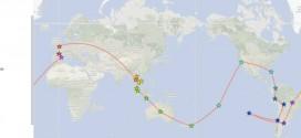 Mon itinéraire de tour du monde avant/après
